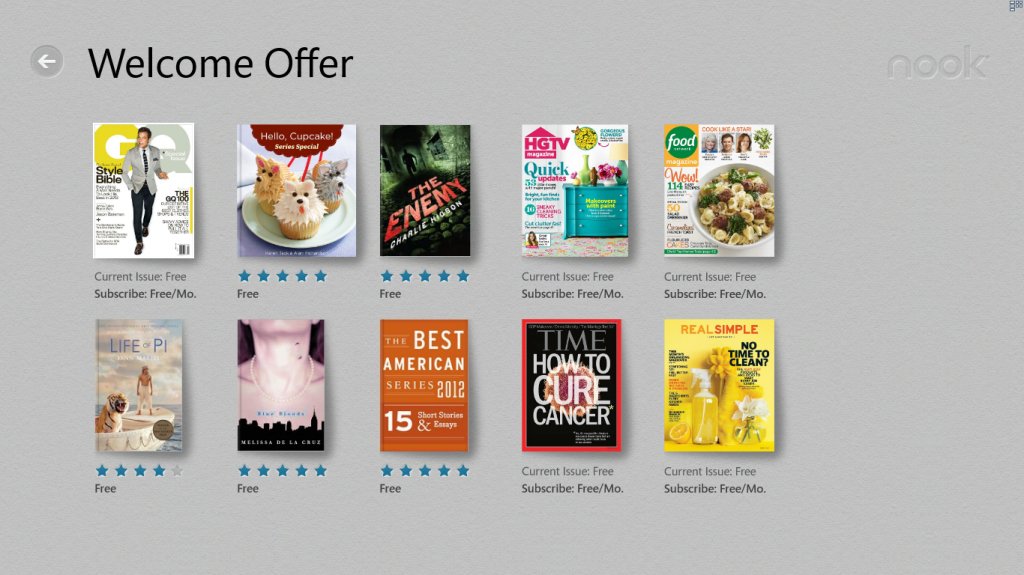 win 8 nook welcome offer