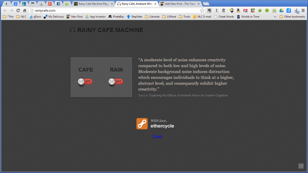 Rainy Cafe Machine