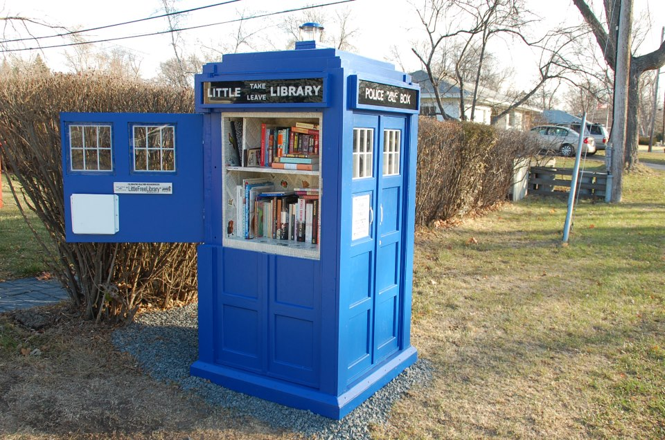 TARDIS Little Free Library