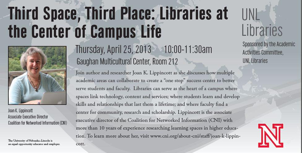 Third Space, Third Place Libraries at the Center of Campus Life