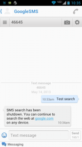 Google SMS Search