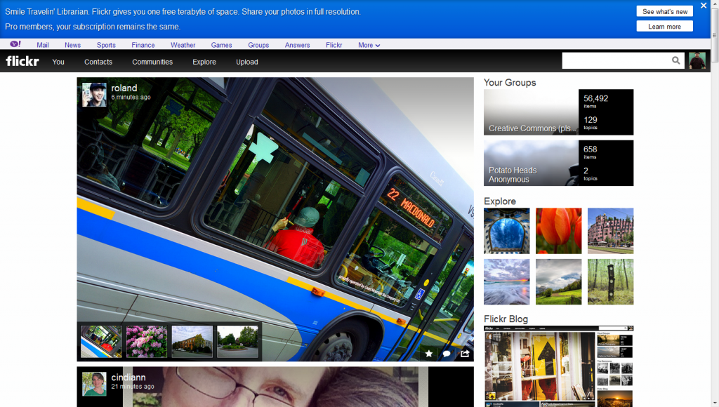 New Flickr design