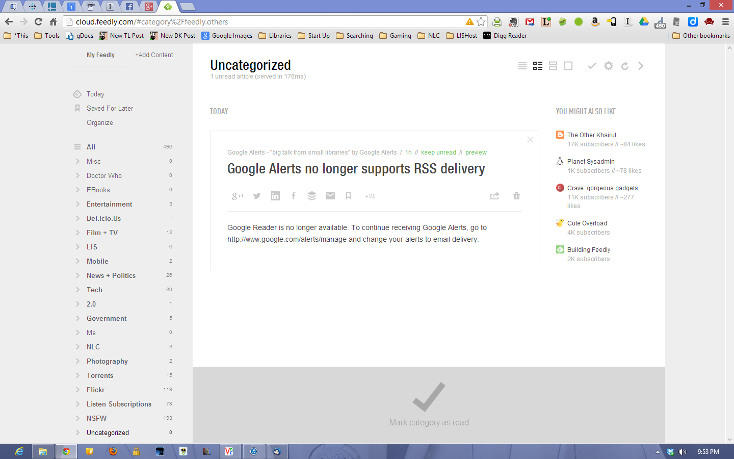 Google Alerts - No More RSS 1