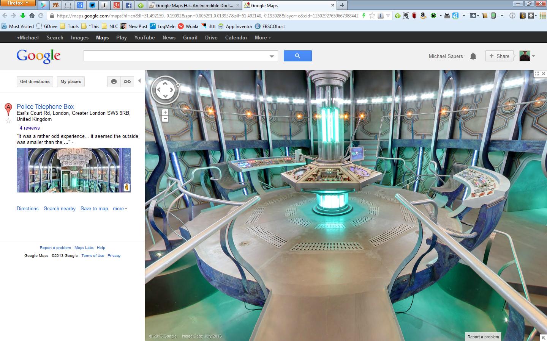 TARDIS Google Street VIew