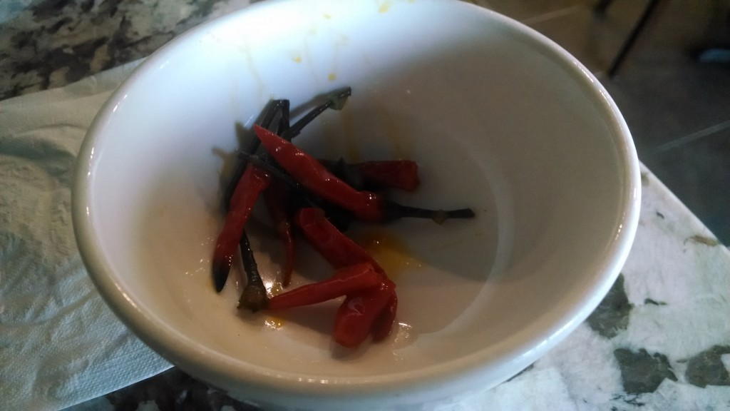Chilis removed from my dinner