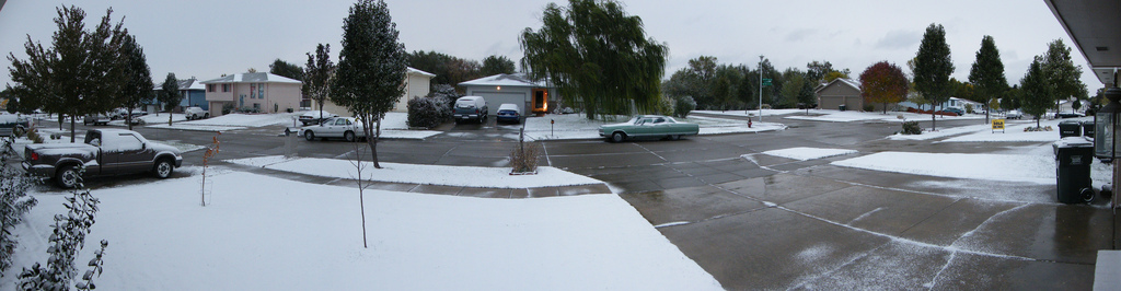 Snow on October 10 2009