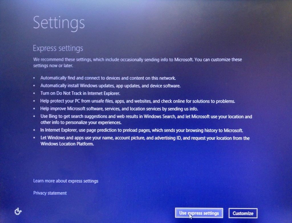 Windows 10 Technical Preview EULA