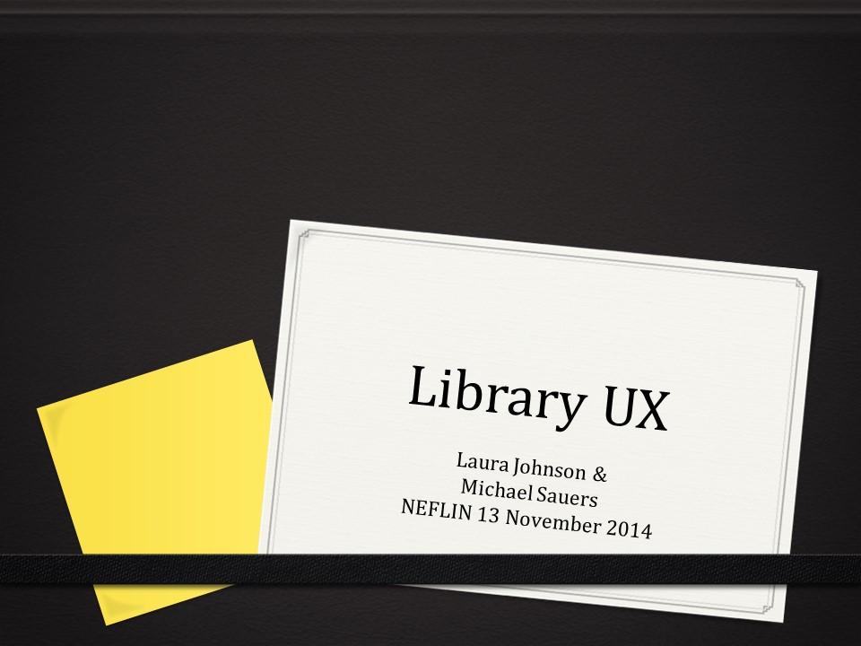 Library UX presentation