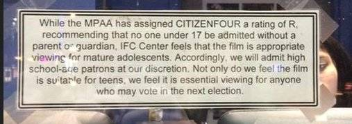 Citizenfour rating