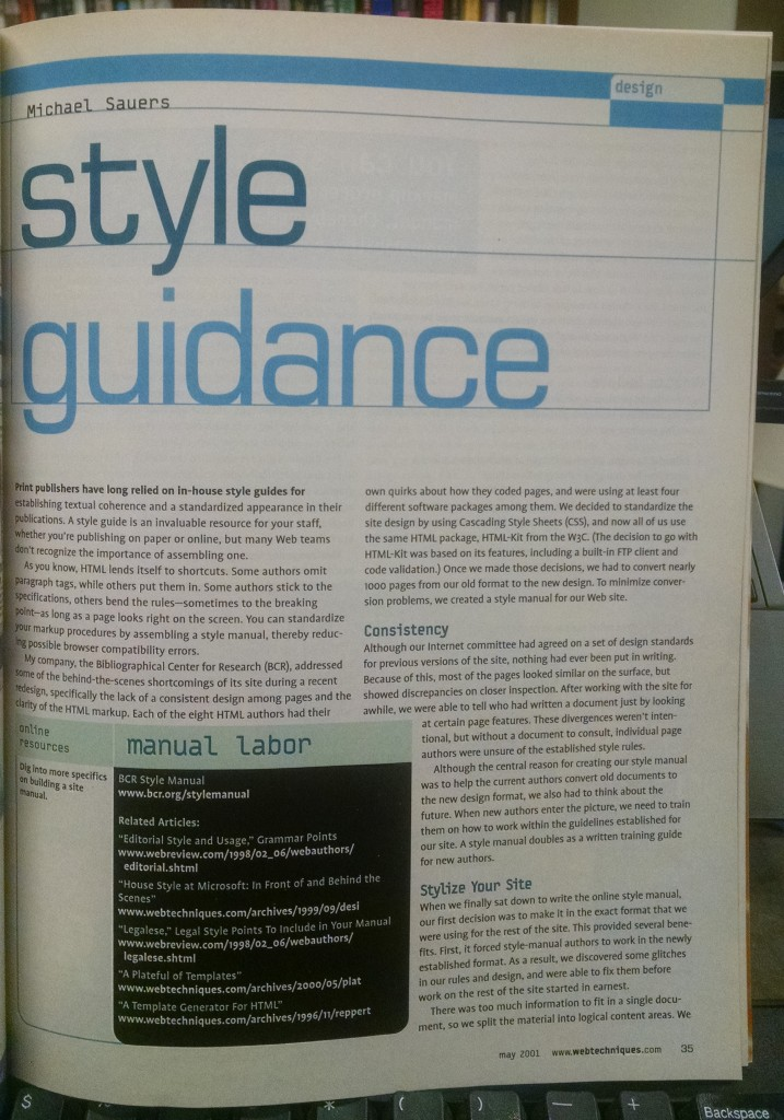 Style Guidance by Michael Sauers