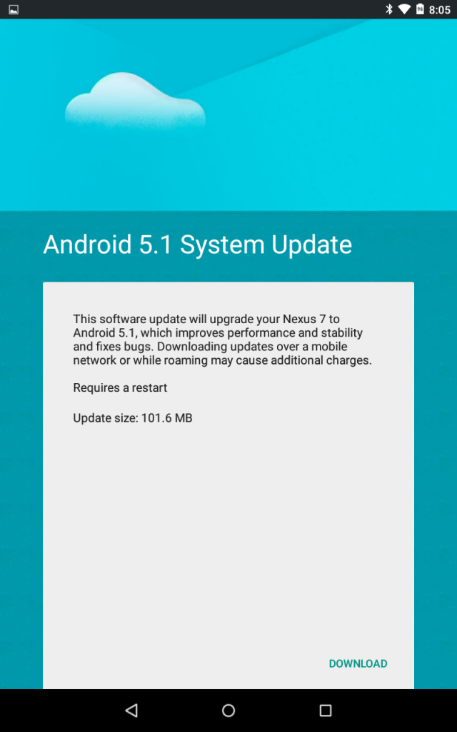 Android 5.1 Update