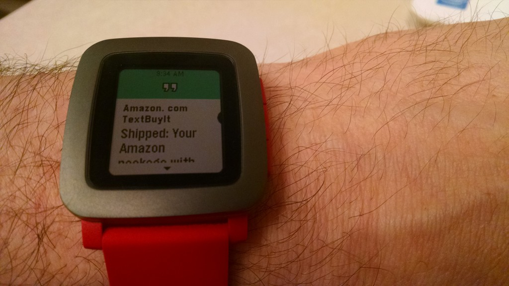 Pebble Time - SMS