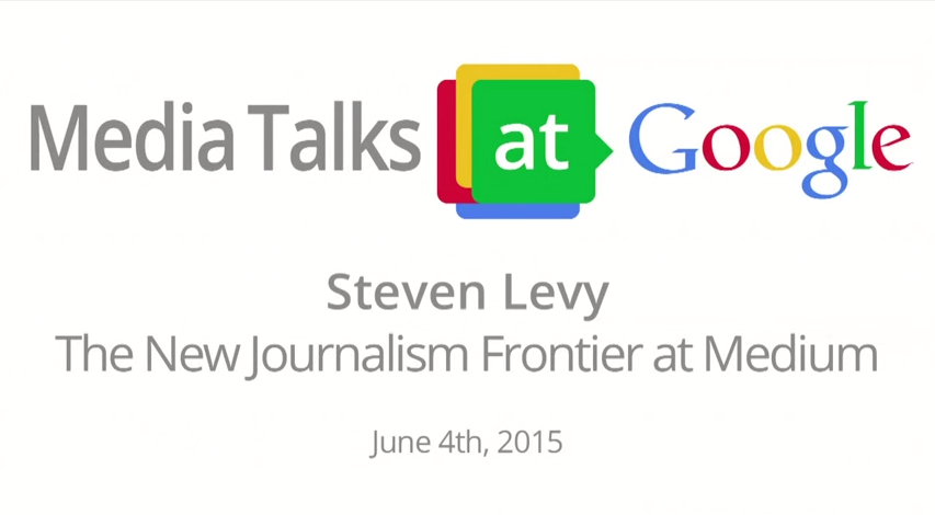 Steven Levy The New Journalism Frontier at Medium