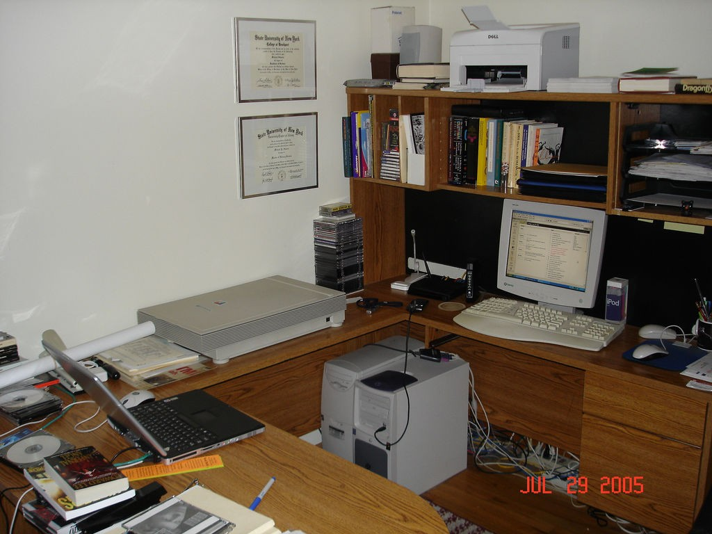 Home office setup, July 2005