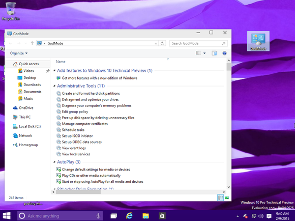 Tuesday Tech Tip: Windows 10 God Mode
