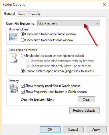 Tuesday Tech Tip: Make File Explorer open to This PC instead of Quick Access in Windows 10
