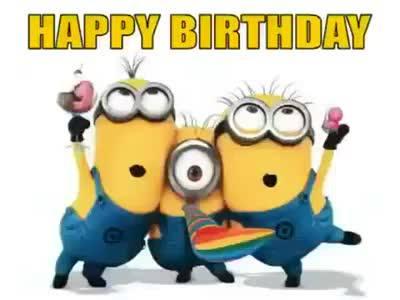 happy birthday minions