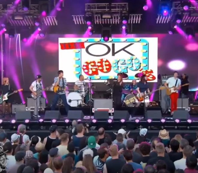 Mashup Monday: OK Go-Go's Our Lips Are Sealed-Here It Goes Again Live in Hollywood