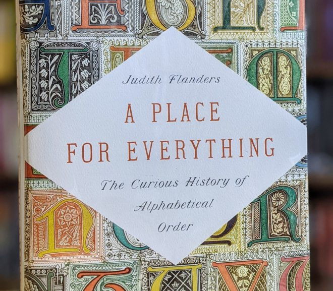 Friday Reads: A Place for Everything by Judith Flanders