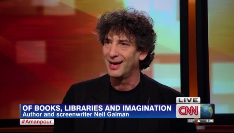 Friday Video: Neil Gaiman on libraries and imagination