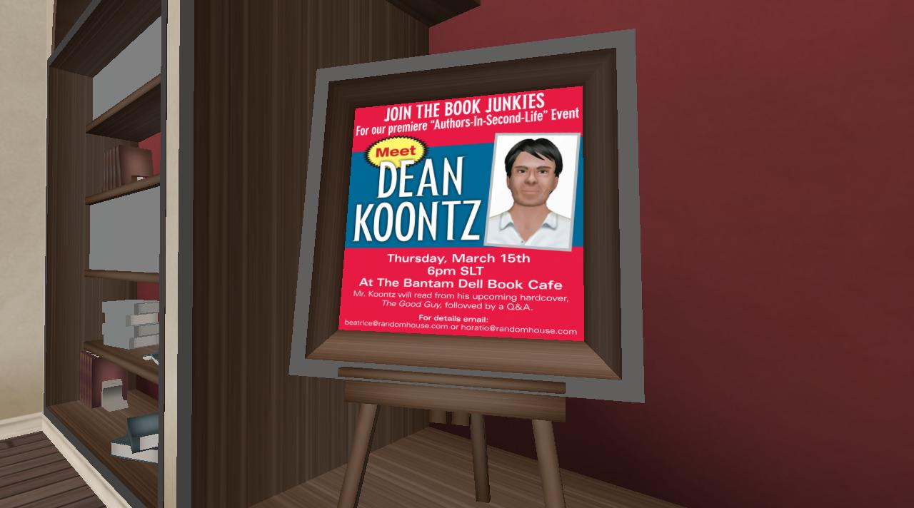 Throwback Thursday: Waiting for Dean Koontz in Second Life