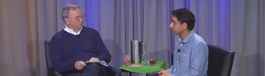 Friday Video: Fireside Chat with Eric Schmidt and SalKhan