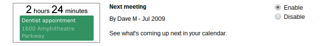 Tuesday Tech Tip: Next meeting countdown in GoogleCalendar