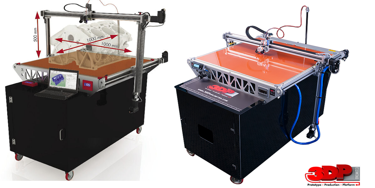 3DP Unlimited Offers 3DP1000 3D Printer Lease Option For Under $400/Month