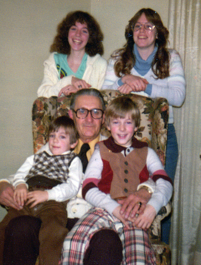 Throwback Thursday: Four Cousins & Grandpa, 1979