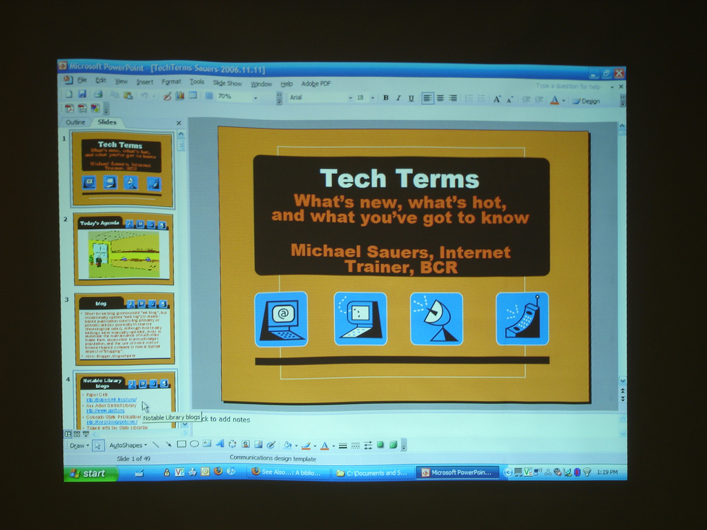 Throwback Thursday: Tech Termspresentation
