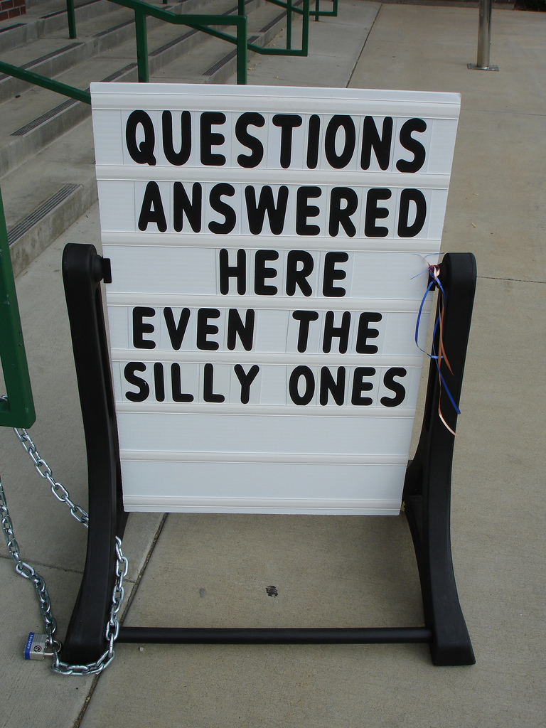 Throwback Thursday: Silly Questions
