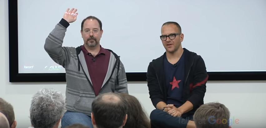 "Friday Video: Cory Doctorow and John Scalzi: ""Walkaway & the Collapsing Empire"" | Talks at Google"