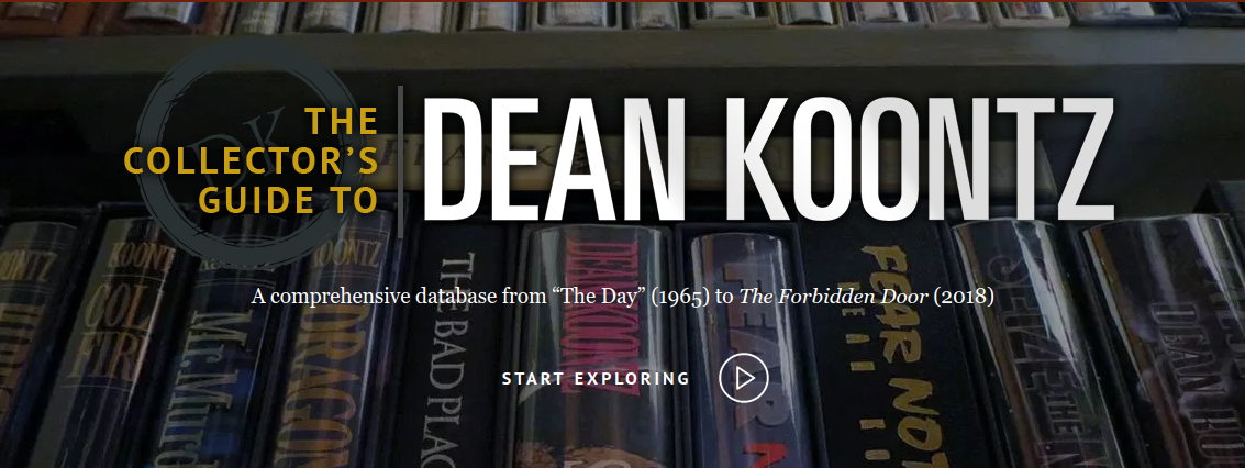 Announcing the launch of The Collector's Guide to Dean Koontz online