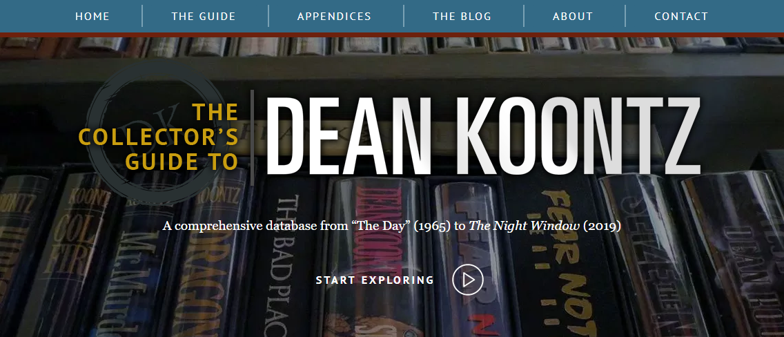 Throwback Thursday: The Collector's Guide to DeanKoontz