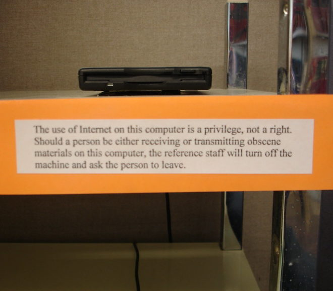 Throwback Thursday: 2007 Public Library Internet Use Policy
